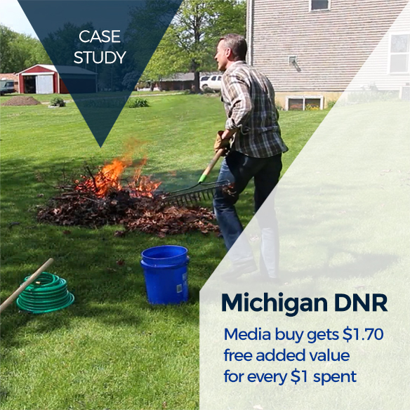 Michigan DNR Case Study - Media buy gets $1.70 free added value for every $1 spent